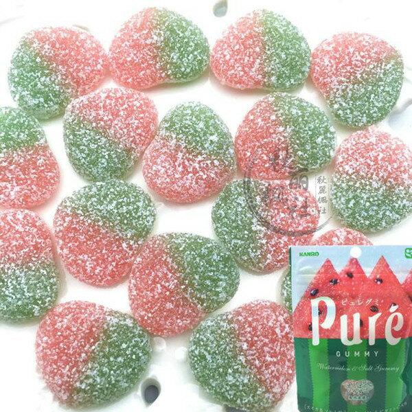 有樂町進口食品 日本進口KANRO PURE 西瓜軟糖 (56g) 4901351059449 1