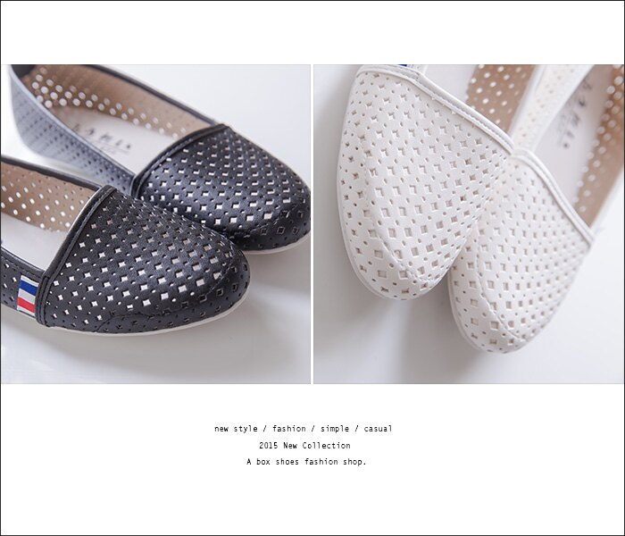 格子舖*【ANW506】MIT台灣製 嚴選豆豆鞋 簡約舒適透氣洞洞皮革 懶人鞋 娃娃鞋 圓頭包鞋 3色 2