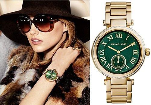 【Cadiz】美國真品正品 Michael Kors [MK6065/ Skylar Emerald Green Dial Gold-tone/ 代購/ 現貨]