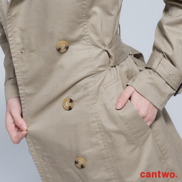 cantwo雙排釦兩穿式風衣外套(共二色) 5