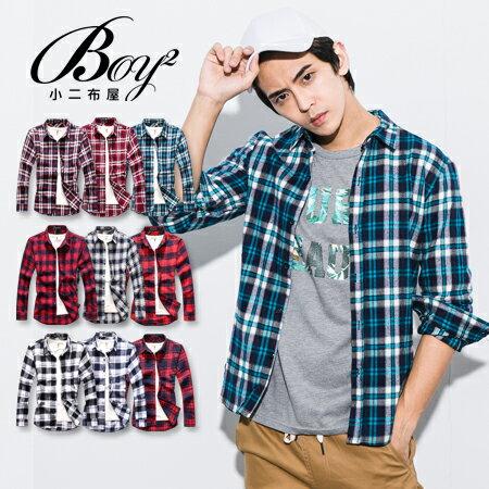 ☆BOY-2☆【NQ97012】美式休閒法蘭絨格紋長袖襯衫(M.L) 1