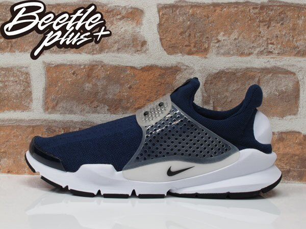男女 BEETLE PLUS NIKE SOCK DART 深藍 藍白 襪套 余文樂 藤原浩 走路鞋 休閒鞋 慢跑鞋 819686-400