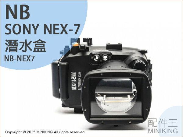 【配件王】現貨 NB公司貨 潛水盒 Sony NEX-7 NEX7 防水盒 潛水殼 浮潛 相機防水 浮潛游泳 防水殼