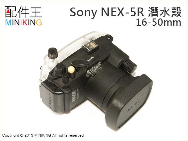 【配件王】現貨 NB公司貨 潛水盒 Sony NEX-5R NEX5R 防水盒 潛水殼 浮潛 相機防水 浮潛游泳 防水殼