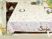 鄉村風zakka雜貨到~*@Sonya頌雅@*~ MYJ001-5 彩色字母 新款棉麻桌布 日式鄉村風 餐桌布 蓋布(原價$780特價$499)