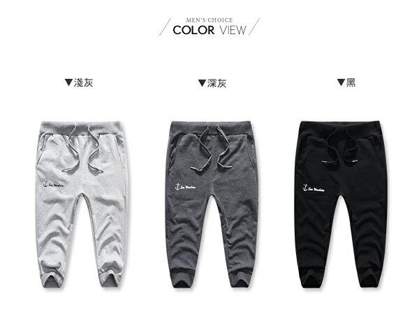 ☆BOY-2☆【NQ95022】棉褲  素面船錨休閒運動七分棉褲 2