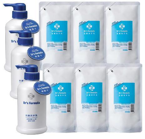 【購購購】台塑 Dr's Formula 抗菌洗手乳400ml*3瓶+抗菌洗手乳400ml補充包*6包