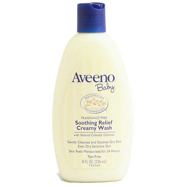 【特惠】§異國精品§Aveeno24小時滋潤保濕沐浴乳 寶寶專用(無香)Soothing Relief Creamy Wash 12oz