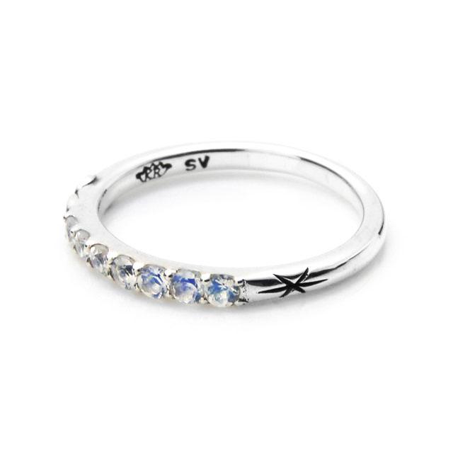 【現貨商品】【KONRON】新月許願寶石純銀戒指 (KRBCR1027) 3