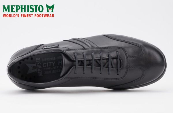 Mephisto 法國工藝綁帶皮革休閒鞋 黑 3