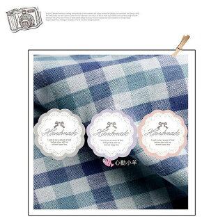 心動小羊^^韓國蝴蝶結粉色紫色3種9枚手工皂貼紙布丁貼紙烘焙袋定制封口貼熱賣款9入