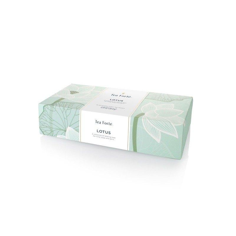 Tea Forte 10入金字塔絲質茶包 - 靜心蓮語 Lotus Petite Presentation Box 1