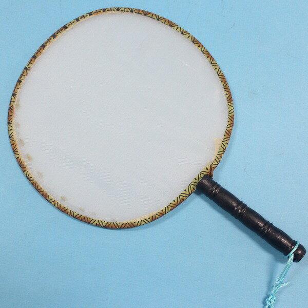空白扇子 小圓型白布面宮廷扇子 彩繪扇子 團扇 手繪扇(木柄.琉疏)/一支入{促20}~NG商品~