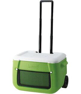 ├登山樂┤美國 Coleman 47L綠 拖輪置物型冰桶 拉桿式 推拉皆輕鬆 行動冰箱冰筒 # CM-0016J