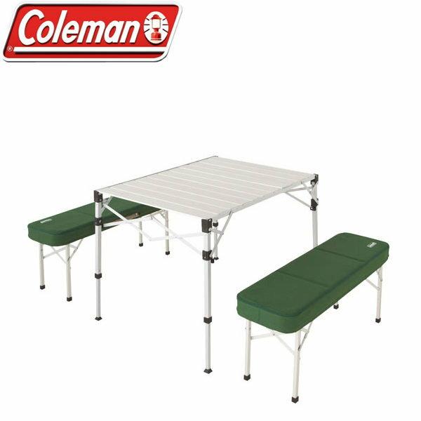 ├登山樂┤美國 Coleman 野餐桌椅組 桌椅可結合收納 兩段式高度調整 # CM-0516J