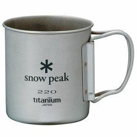 ├登山樂┤日本Snow Peak 鈦金屬單層杯 折疊把手 隨身杯 220ml # MG-041FH
