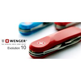 ├登山樂┤瑞士 Wenger十三用瑞士刀 # Evolution 10 (10 紅色、10.600透明紅色、10.616透明藍色)