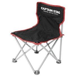 ├登山樂┤日本Captain Stag 鹿牌 野營椅(黑色)休閒椅 童軍椅 # M-3863