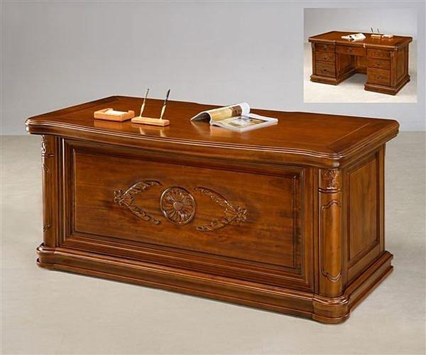 【尚品傢俱】702-05 樟木全實木5.1尺辦公桌/書桌(附8mm強化玻璃)~另有5.8尺