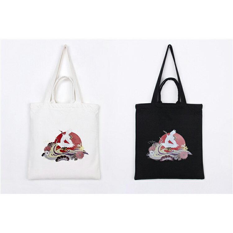 手提包 手提包 帆布袋 手提袋 環保購物袋--手提/單肩/拉鏈【SPA95】 BOBI  10/06 1