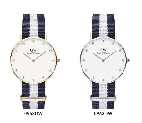瑞典正品代購 Daniel Wellington 0953DW  玫瑰金 尼龍 帆布錶帶 女錶手錶腕錶 26MM 2