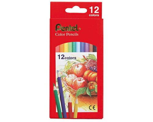 【文具通】Pentel 飛龍牌 色鉛筆 油性 紙盒 12色 CB8-12T A1340260