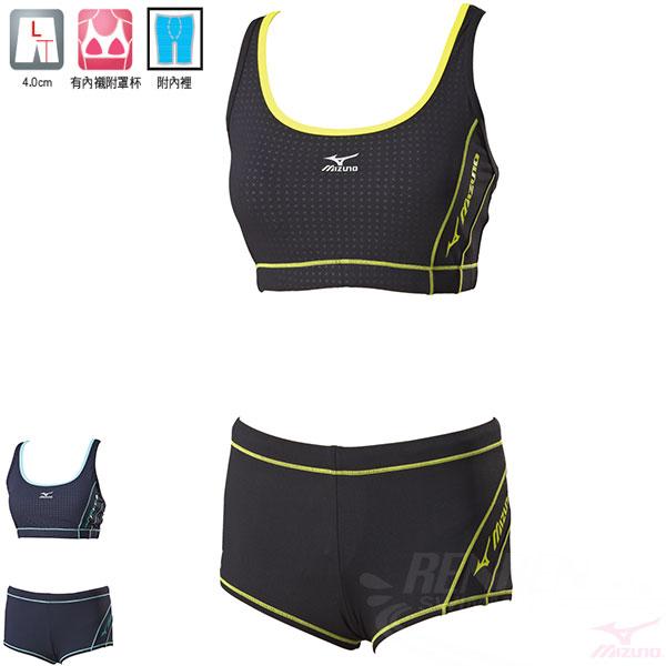 MIZUNO美津濃 女泳衣(黑) FITNESS  運動泳裝 有內襯附罩杯