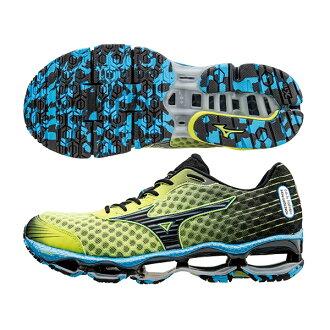 頂級鞋款 WAVE PROPHECY 4 男慢跑鞋 J1GC150011(銀光綠*黑)A【美津濃MIZUNO】