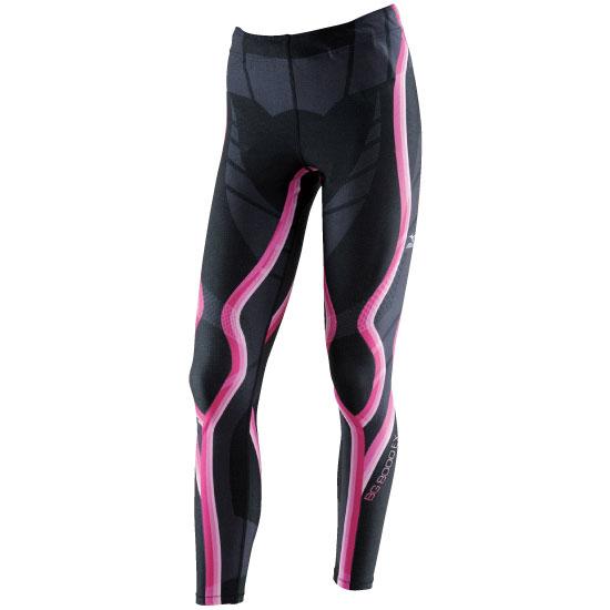 日本製無車缝 BG8000EX 女緊身褲A76BP-31094(黑*粉紅)【美津濃MIZUNO】