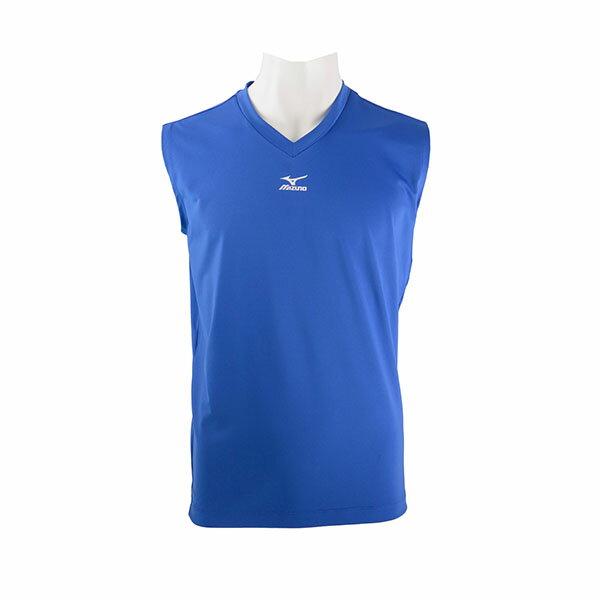 運動專用無袖緊身衣 12TA5C1616(深藍)【美津濃MIZUNO】