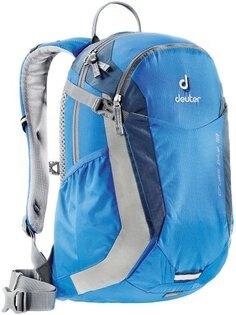 【鄉野情戶外專業】 Deuter |德國|  登山露營旅遊/雙肩背包/健行背包/自行車網架背包18L-藍/深藍_32074