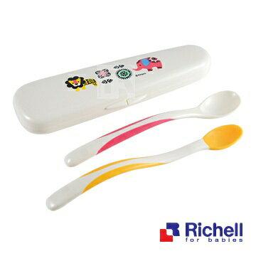 【全系列特價68折】【Richell X Kinpro】馬戲團離乳湯匙組+盒 0