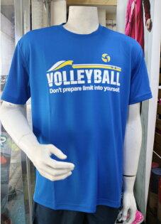 [陽光樂活] ASICS 亞瑟士 男款 短袖圓領T恤 吸汗速乾 抗UV K31410-43 藍色