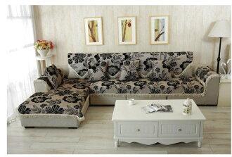 豪美氣派風SF0005-70*120 CM 四季可用棉麻玫瑰花兩人座沙發墊/ 坐墊/ 椅墊