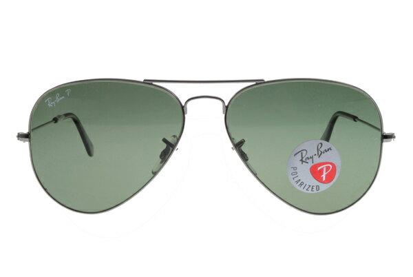 Ray Ban雷朋 槍色銀邊 太陽眼鏡 RB3025 偏光鏡 0