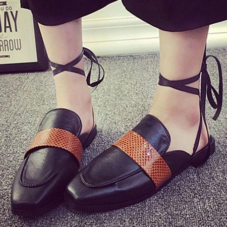 拖鞋 歐美時尚嬉皮隨興綁帶拖鞋【S1591】☆雙兒網☆ 0
