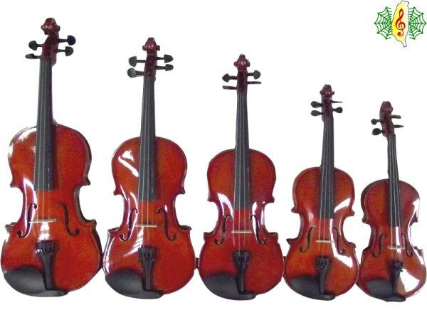 [網音樂城] 小提琴 雲杉 虎紋楓木 4/4 3/4 1/2 1/4 1/8 (贈 夜光琴盒.肩墊 調音器 節拍器 教材...等)