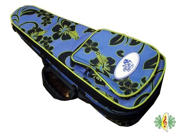 [網音樂城] 烏克麗麗 小提琴 軟硬盒 硬盒 硬殼 23吋 扶桑花 花紋 耐重 防撞