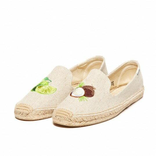【Soludos】美國經典草編鞋-塗鴉系列草編鞋-椰子