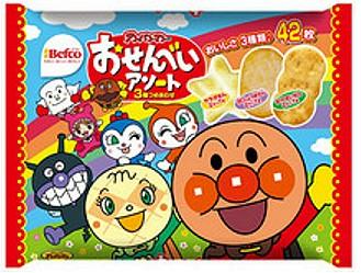 【Befco栗山米果】栗山麵包超人三種類綜合米果 42枚入 (150g)