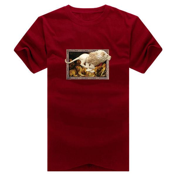 ◆快速出貨◆T恤.情侶裝.班服.MIT台灣製.獨家配對情侶裝.客製化.純棉短T.相框上奔跑獅子【YC364】可單買.艾咪E舖 3