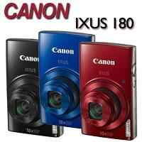 Canon佳能到【★送32G卡+專用鋰電池X2+自拍棒(附手機夾)+清潔好禮組】Canon IXUS 180【公司貨】時尚輕薄 1公分近拍相機