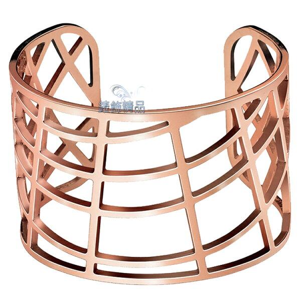 【錶飾精品】CK飾品Calvin Klein女性手環KJ1T白鋼KJ1TPF1001玫瑰金 來自星星的你-千頌伊款 摩登都會感 全新原廠正品 情人節 生日 禮物
