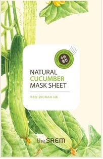 韓國the SAEM Natural 美顏黃瓜面膜 21ml Natural Cucumber Mask Sheet (New)【辰湘國際】