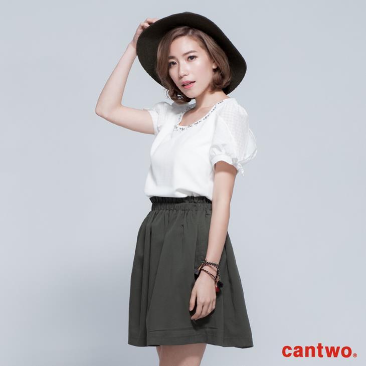 cantwo名媛風珠飾公主袖上衣(共三色) 1