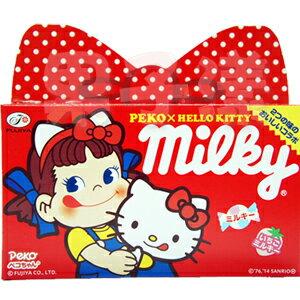 日本不二家 PekoXHello Kitty Milky 蝴蝶結牛奶糖禮盒 內含二種口味 - 限時優惠好康折扣