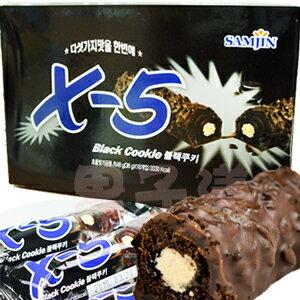 韓國Samjin X-5 黑色脆心巧克力棒[KR101] - 限時優惠好康折扣