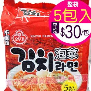 韓國不倒翁 泡菜風味拉麵(整袋5包入) [KR046A] 0