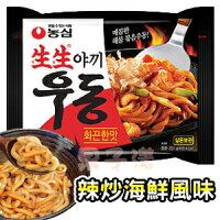 異國泡麵大賞推薦韓國農心 生生烏龍麵 乾麵款 辣味[KR108]
