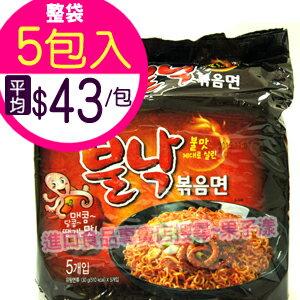 韓國八道 火辣章魚風味炒麵 泡麵(袋裝5包入)[KR120A] - 限時優惠好康折扣